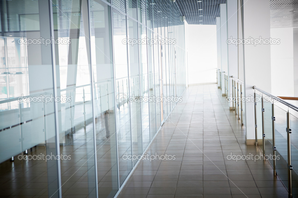 Image of office corridor inside building  Stock Photo #11631524