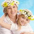 Granny and grandddaughter — Stock Photo
