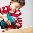 Boy drilling — Stock Photo #11661666