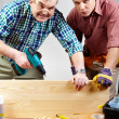 Two carpenters — Stock Photo