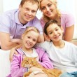 Stock Photo: Family with pet