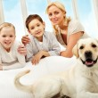 Stock Photo: Family and pet
