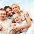 Embracing family — Stock Photo