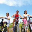 Cool cyclists — Stock Photo
