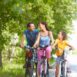 Cycling in park — Stock Photo #11662072