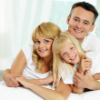 Stock Photo: Family of three