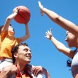 Playing basketball — Stock Photo