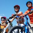 Family on bicycles — Stock Photo #11662192