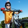 Little bicyclist — Stock Photo #11662198