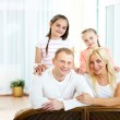 Couple and their kids — Stock Photo
