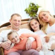 Stock Photo: Family relaxing