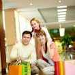 Shoppers with bags — Stock Photo