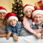 Family of Santas — Stock Photo