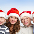 Family of Santas — Stock Photo