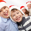 Stock Photo: Laughing Santas