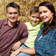 Stock Photo: Family of farmers