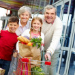 Family of shoppers — Stock Photo #11662815