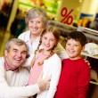 Grandparents and grandchildren — Stock Photo