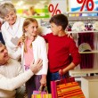 Family in department store — Stock Photo