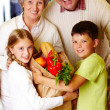 Family in supermarket — Stock Photo #11662850