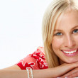 Smiley blond — Stock Photo