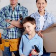 Family of new settlers — Stock Photo #11663494