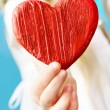 Wooden heart - Stockfoto