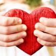 Hands and heart - Stock Photo