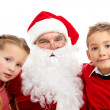 Santa with kids — Stock Photo #11664181