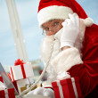 Santa Claus calling - Stock Photo