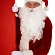 Peeking Santa — Stock Photo