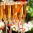 Flutes with champagne — Stock Photo #11664287