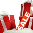 Christmas sale and gifts — Stok fotoğraf