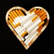 Stock Photo: Love and cigarettes