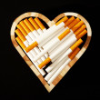 Love and cigarettes — Stock Photo