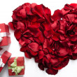Heart and gifts — Stock Photo