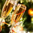 Flutes with champagne — Stock Photo #11664427