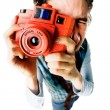 Stock Photo: Funny photographer