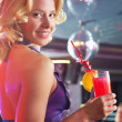 Girl with cocktail - Foto Stock