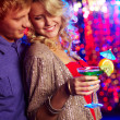 Couple at party — Stock Photo