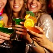 Holding cocktails — Stock Photo