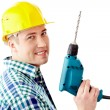 Man with drill — Stock Photo #11669447