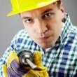 Man with drill — Stock Photo #11669663