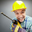 Working with drill — Stock Photo