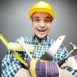 Repairman with tools — Stock Photo