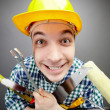 Happy handyman — Stock Photo