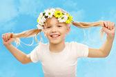 šťastná dívka — Stock fotografie
