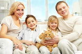 Beautiful family — Stock Photo