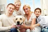 Average family — Stock Photo