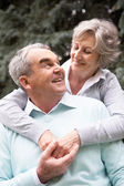 The senior's love — Stock Photo